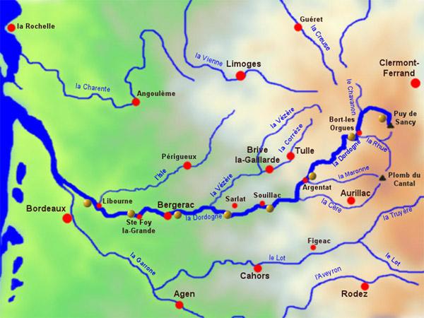 La source de la rivière Dordogne
