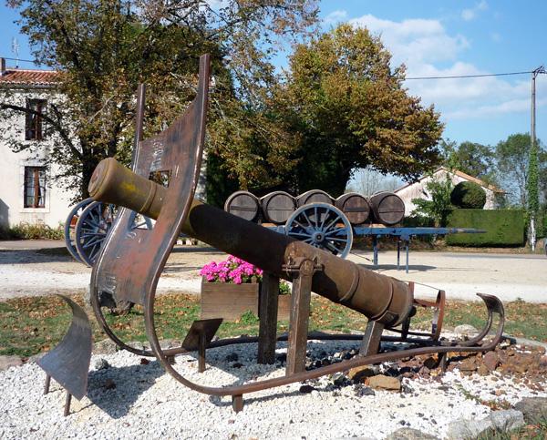 Un canon forgé à Etouars