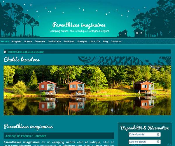 Le site web Parenthèses imaginaires