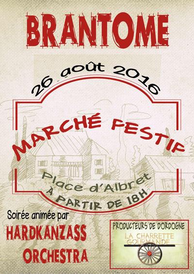 Marché festif à Brantôme